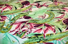 snake'n'flower  fabric