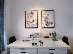 alex ikea desk (office)