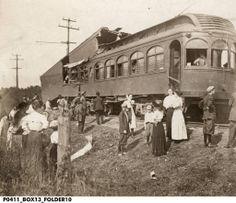 Train wreck near Tipton, Indiana September 24, 1910 :: Assorted Images from IHS Collections Elkhart Indiana, Abandoned Train, Vintage Photos, Trains, Nostalgia, Buildings, September, Old Photos, Train