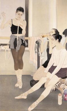 He Jiaying, peintre chinois contemporain Reminds me of Mary Cassatt Chinese Contemporary Art, Contemporary Artists, Modern Art, Chinese Painting, Chinese Art, Figure Painting, Painting & Drawing, Art Chinois, Kunst Online