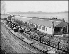 Santa Fe Terminal at the ferry, Point Richmond, CA, 1912.