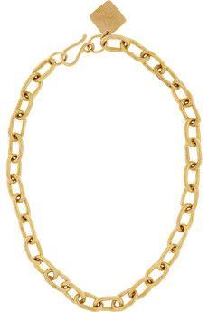 Ashley Pittman | Hammered bronze chain necklace | NET-A-PORTER.COM