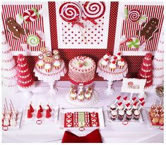 Candy Christmas party table