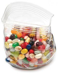 unzipped glass baggie