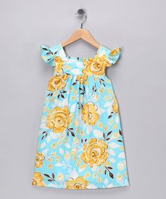 Take a look at this Blue Floral Dress - Infant, Toddler & Girls by Chatti Patti on #zulily today!