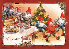 Christmas Gnome, Very Merry Christmas, Christmas Images, Vintage Christmas, Christmas Cards, Xmas, Elves And Fairies, All Holidays, Christmas Illustration