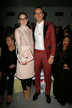 Rosie Fortescue and Oliver Proudlock - LFW Fall 2014