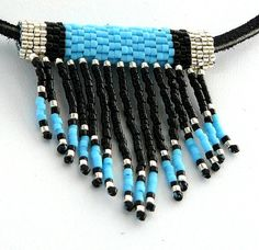 Turquoise Native American Beadwork Necklace by BrownIrisCreations
