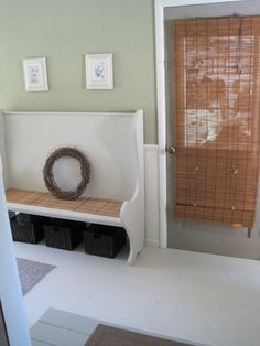 Mudroom/Breezeway Makeover, We had this awkward breezeway entry and decided to give it a fresh, clean look, on a tight budget., there are 4 doors in this space, Other Spaces Design