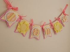 You are My Sunshine Highchair Banner, You are my Sunshine Birthday Party, First Birthday, Boutique Party Decorations Baby 1st Birthday, First Birthday Parties, First Birthdays, Birthday Ideas, Baby Banners, Paper Banners, Sunshine Crafts, Sunshine Birthday Parties, Pink Lemonade Party