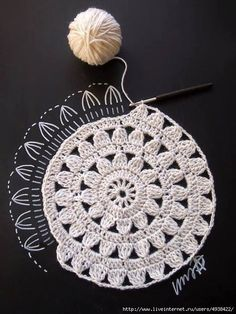 Transcendent Crochet a Solid Granny Square Ideas. Wonderful Crochet a Solid Granny Square Ideas That You Would Love. Crochet Diy, Mandala Au Crochet, Crochet Motifs, Crochet Diagram, Crochet Squares, Love Crochet, Crochet Crafts, Crochet Doilies, Crochet Flowers