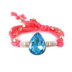 Ettika :: Bracelets :: Neon :: Pop Rox Neon Bracelet in Coral