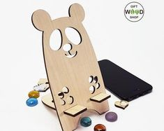 Wooden Wedding and Personal Gifts by GiftWoodShop Diy Phone Stand, Tablet Stand, Liverpool Logo, Mobile Holder, Laser Cut Jewelry, Idee Diy, Character Wallpaper, Desktop Organization, Personalized Gifts