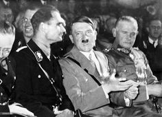 Adolf Hitler and Rudolph Hess in Berlin, 1933
