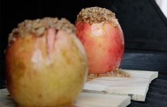 Planked stuffed baked apple crisp recipe...on the GRILL!