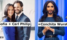 Royales Meme: Aus Sofia und Carl Philip wird Conchita | m.heute.at