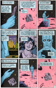 Watchmen - Dr. Manhattan - a superb read My favorite part of him on Mars finally letting go