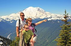This summer, explore family-friendly hikes at Mt. Rainier, go on a wildlife tour at Northwest Trek Wildlife Park, and ride the Mt. Crystal Mountain, Oregon Road Trip, Rainier National Park, Wow Products, Solo Travel, Places To Go, National Parks, Hiking, Flight Tickets
