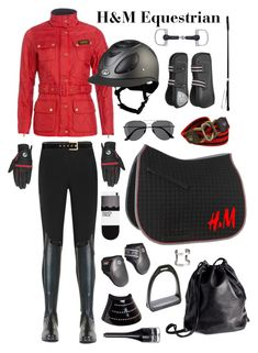 """""""H&M Equestrian"""" by equine-couture ❤ liked on Polyvore featuring H&M, Barbour, Musto and Express"""
