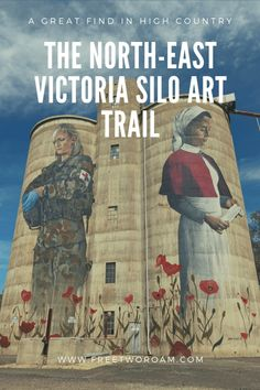 The North-East Victoria Silo Art Trail is a great find in High Country, Victoria. Three hours from Melbourne, Australia, this new outdoor gallery is worth the detour for all art lovers. Outback Australia, Australia Day, Visit Australia, Melbourne Australia, Western Australia, Brisbane, Sydney, Victoria, Parks