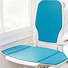 Bathmaster Sonaris Reclining Bath Lift The single-button operation allows the user to descend and keep the backrest upright or to recline back to a more co Granite Bathroom, Bathroom Safety, Home Catalogue, Recliner, Medical, Chair, Recliners, Medicine, Med School