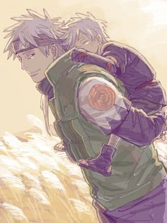 Kakashi and his father.