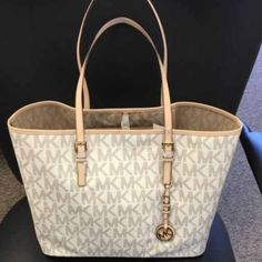 937950f5477d Sold locally Michael Kors Jet Set Travel PVC Vanilla Signature MD Medium  Tote  248 NWT Micheal Kors Authentic Bag Jet Set Travel Style   38S6GTVT2B  New with ...
