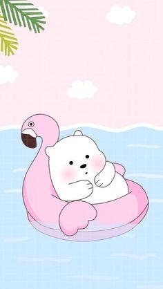 Ice Bear Uploaded Naty On We Heart It pertaining to Amazing We Bare Bears Wallpaper Baby Ice Bear - All Cartoon Wallpapers Cute Panda Wallpaper, Kawaii Wallpaper, Cute Wallpaper Backgrounds, Wallpaper Iphone Cute, Polar Bear Wallpaper, Girl Wallpaper, Wallpaper Quotes, Wallpapers Kawaii, Panda Wallpapers