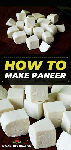 Making this Indian cheese, paneer at home is easy following this simple recipe. Homemade paneer is softer & more superior in taste than the store bought one. Watch the video below for best results. Homemade Paneer Recipe, Paneer Recipes, Nutritious Meals, Healthy Foods, Healthy Recipes, Indian Food Recipes, Vegetarian Recipes, Cooking Recipes, Cube Recipe