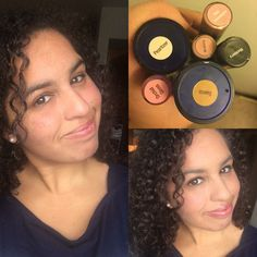 MakeSense Foundation in Suede with Pearlizer  Blackberry LipSense as eyeliner  Pink Champagne LipSense with Orchid Gloss