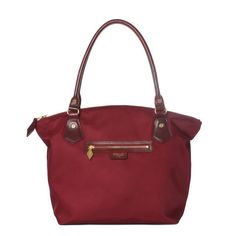 MZ Wallace Chelsea Tote - Ruby Bedford | Shop | New this season, the Chelsea Tote is perfect on its own for everyday or as a second bag when you need to carry a bit more. Features stitched and folded Italian leather handles with a drop to fit comfortably over the shoulder. For AW14, we crafted it in our signature Bedford Nylon in a rich ruby. With custom MZ Wallace gold hardware and signature red edge-dye.