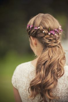 A few Flowers in Bride's Hair