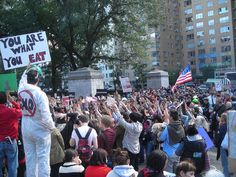 """This sign from the October 2013 March Against Monsanto in New York says """"YOU ARE WHAT YOU EAT."""""""