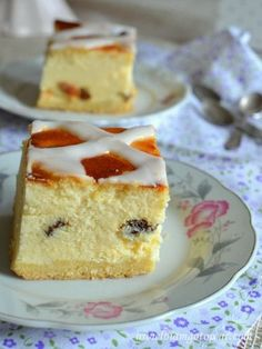 Sernik krakowski (Sernik z kratką) Polish Desserts, Polish Recipes, Sweet Recipes, Cake Recipes, Yummy Cakes, Cheesecake, Sweet Tooth, Good Food, Biscotti