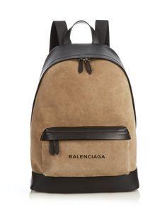 Backpack Brands, Men's Backpack, Fashion Backpack, Black Leather Backpack, Leather Briefcase, Balenciaga Bag, Bold Logo, Back Bag, Men Accessories
