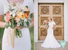 Coral and Mint. Soft Summer Bridal/Groomal Photos Mikki Platt Photography--DesignLovesDetail