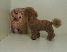 Needle felted poodle (Gai Button) Tags: sculpture dog pet pets art wool felted one soft felting handmade ooak felt kind needle custom fleece collectable fibre