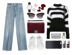 """""""Street style"""" by sxpphie ❤ liked on Polyvore featuring Philosophy di Lorenzo Serafini, Chanel, RE/DONE, Kenzo, Jennifer Meyer Jewelry, Christian Dior, adidas, Alexander McQueen, Maybelline and STELLA McCARTNEY"""
