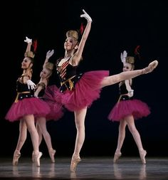 San Francisco Ballet students in Balanchine's Stars and Stripes.
