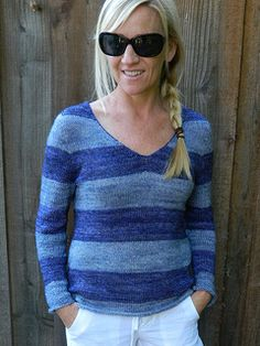 this sweater is a great beginner project - contiguous set in sleeves