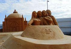 Brighton Sand Sculpture Festival - Abba Win Eurovision by Martin Tedder.
