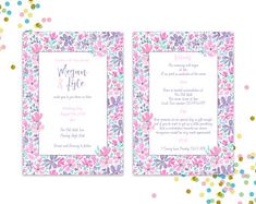 Illustrated Wedding Invitations by TasherellaKitty Designs Illustrated Wedding Invitations, Wedding Show, Surface Pattern Design, Rsvp, My Design, Etsy Seller, Painted Flowers, Hand Painted, Illustration