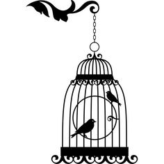 bird cage silhouette stampa e ritaglia pinterest bird cages silhouettes and bullet. Black Bedroom Furniture Sets. Home Design Ideas