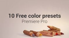 Check out 10 Free Color Presets here: https://motionarray.com/premiere-pro-templates/10-free-color-presets-39944 #videoediting #motionarray