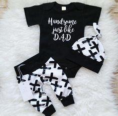 ac8d87e78ab8 NEWEST 3Pcs Newborn Baby Boys Cotton Top Romper Pants Leggings Outfits  Clothes