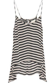 b5f500df7b1602 Michelle Mason - Striped washed-silk camisole