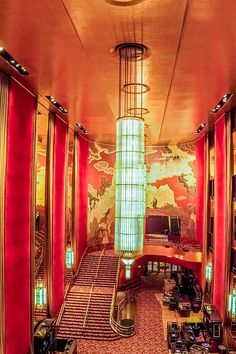 Grand Foyer at the Radio City Music Hall by SAURAVphoto Photography Hall Interior, Interior Design, New York Architecture, City Icon, Grand Foyer, Art Deco Buildings, Radio City Music Hall, Art Deco Home, New York Art