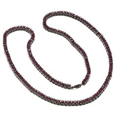 Mens 4 mm Wide 28 Inches Long Purple CZ Cubic Zirconia Black Plated Iced Out Hip Hop Chain Necklace DazzlingRock Collection. $29.99