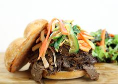 Can this be anymore delicious? I don't think so...Bulgogi and Spicy Slaw Sandwich  @Gomo | cHowDivine