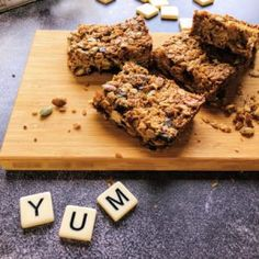 This Thermomix Muesli Bar recipe is quick, easy and fun to make. You will never bother with shop bought bars again once you make these. Gooey Brownies, Chocolate Fudge Brownies, Muesli Bars, School Lunch Box, Chef Recipes, Yummy Recipes, Just Cooking, White Chocolate Chips, Food Processor Recipes